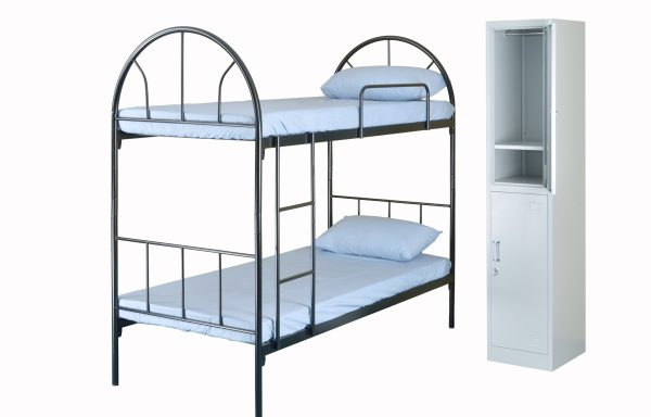 DOUBLE DECKER BED & TWO COMPARTMENT LOCKER